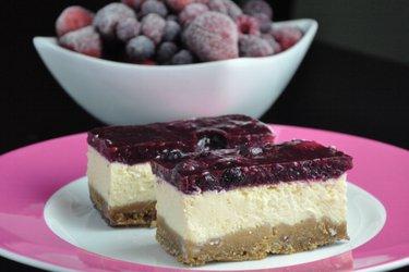 Fitness jogurtový cheesecake (bez mouky a cukru)