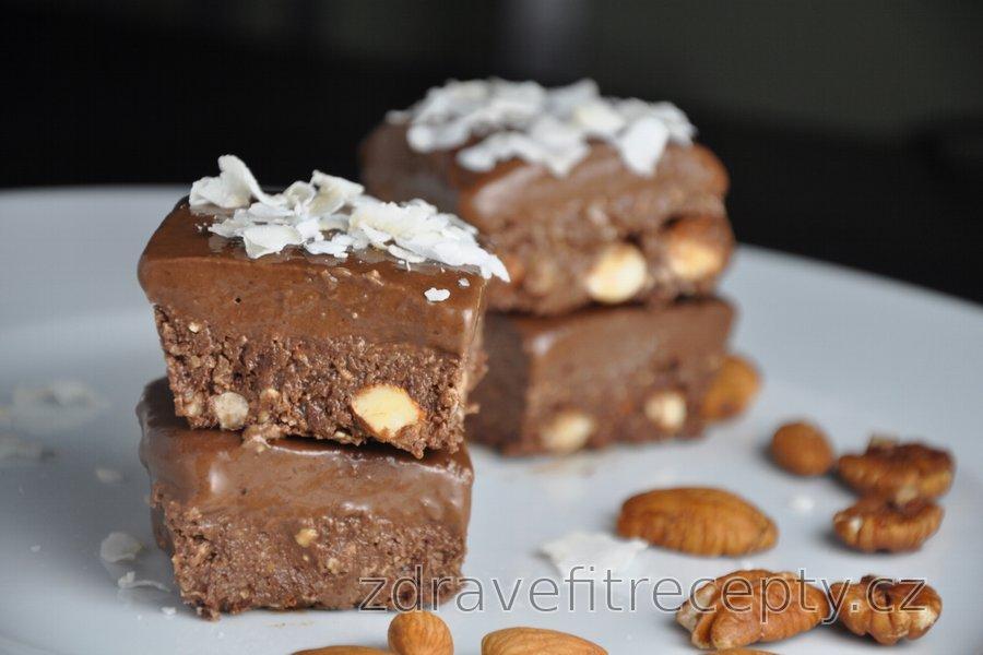 Nepečené kakaové kostky