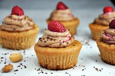 Mandlové cupcakes s kávovým kešu krémem (bez mouky)