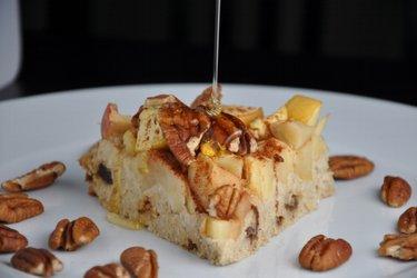 Jablečno-ovesný koláč bez mouky