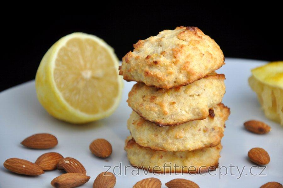 Mandlovo-kokosové sušenky s citronovou příchutí