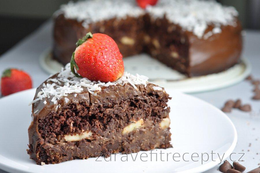 "Zdravý čokoládový fitness dort ""Čokoholik"""