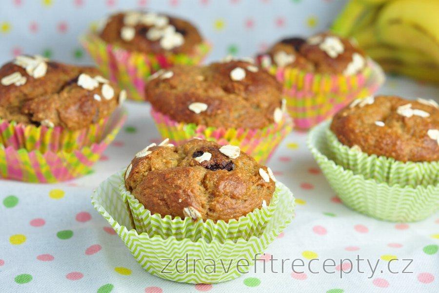 Zdravé banánovo-ovesné muffiny