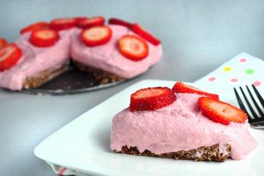 Dietní jahodovo-tvarohový dort