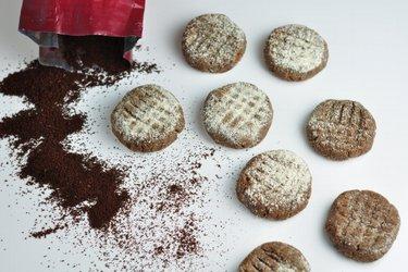 Nepečené kávové cookies