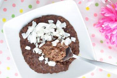 Pohankový/kuskusový/rýžový čokoládovo-arašídový pudink