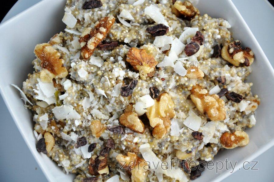 Fit quinoová kaše s tvarohem