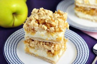 Fit strouhaný jablkovo-tvarohový koláč