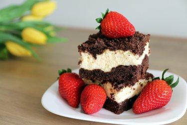 Fit strouhaný tvarohový koláč
