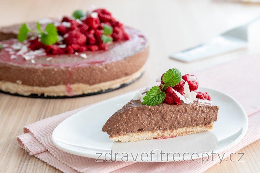 Nepečený fitness čokoládový cheesecake