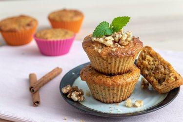 Zdravé mrkvové muffiny ze špaldové mouky