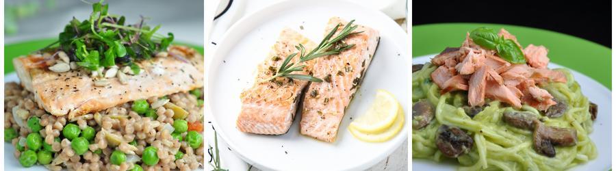 Zdravé saláty s lososem