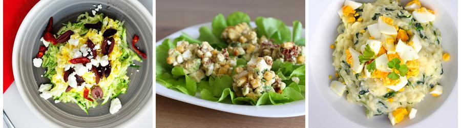 Fit saláty s vajíčky