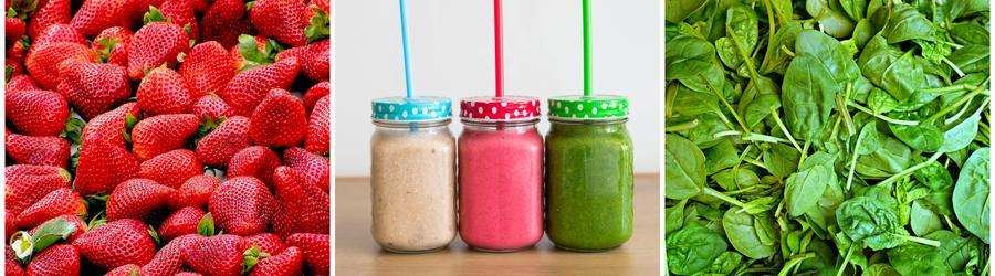 Zdravé smoothies a nápoje s vysokým obsahem vlákniny