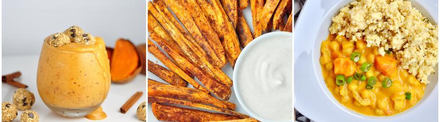 Veganské recepty se sladkými bramborami