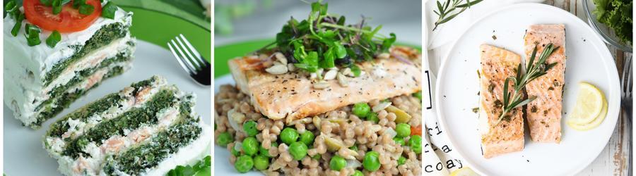 Fitness recepty s lososem a vysokým obsahem bílkovin