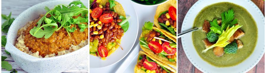 Zdravé veganské zeleninové recepty