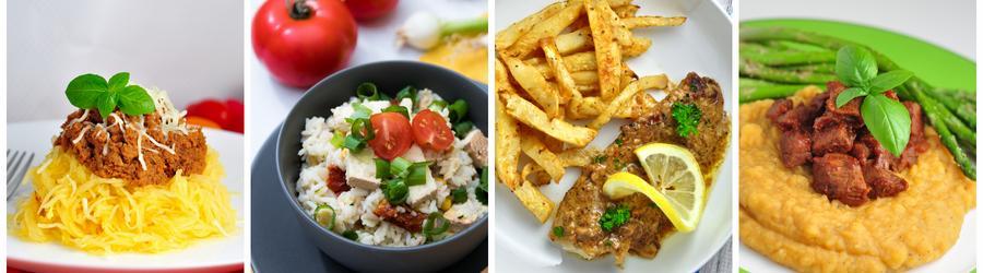 Zdravé recepty na oběd a večeři bez mouky a lepku