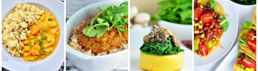 Zdravé veganské recepty na oběd a večeři