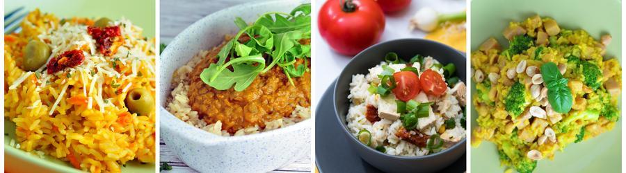 Rýže - zdravé recepty na oběd a večeři