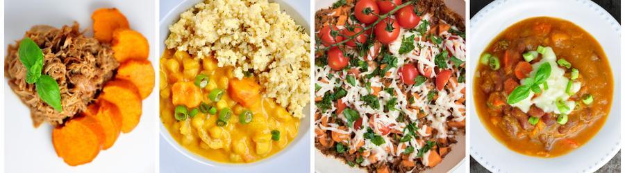 Sladké brambory - zdravé recepty na oběd a večeři