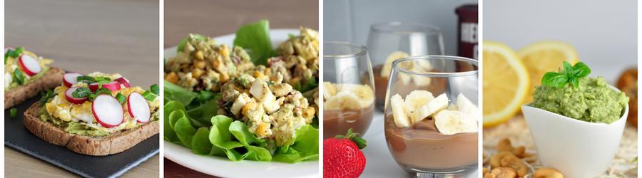 Zdravé snídaně s avokádem