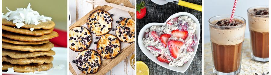Fitness snídaně s proteinovým práškem