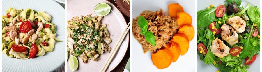 Zdravé obědy a večeře s kuřecím masem