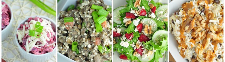Recepty na dietní saláty