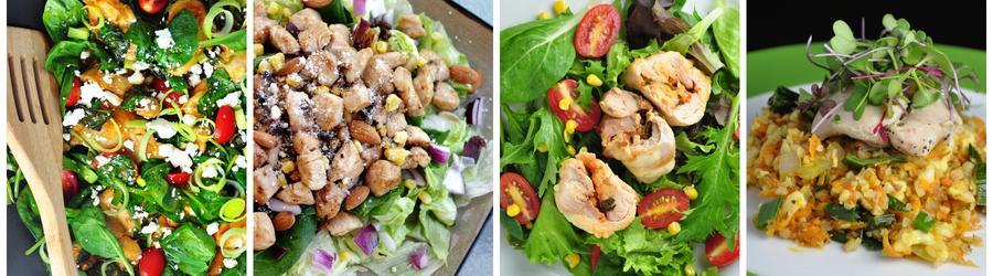 Zdravé recepty na kuřecí saláty