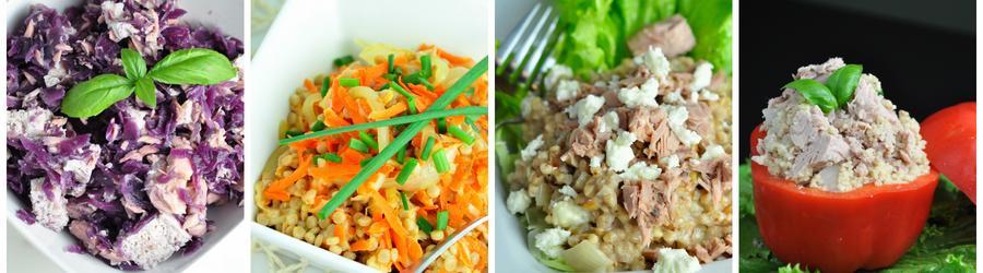 Zdravé saláty s tuňákem