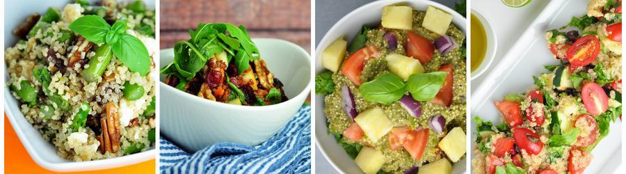 Zdravé saláty s quinoou